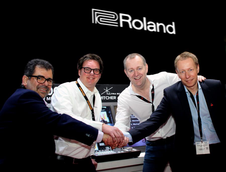 Roland Pro AV and AED group sign European distribution agreement