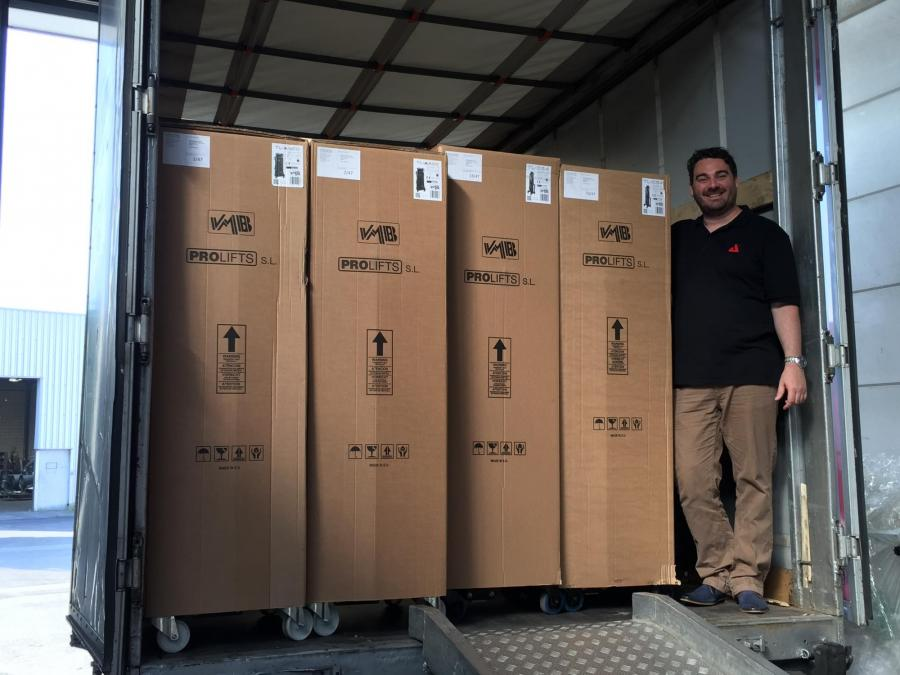 First delivery of VMB products at AED Distribution