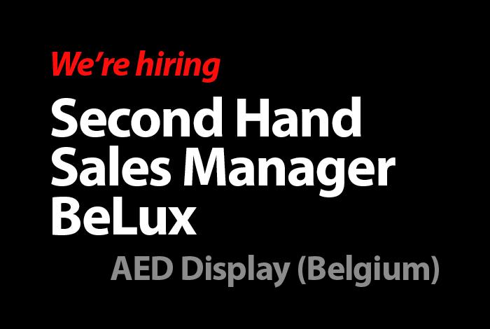 Second Hand Sales Manager (AED Display Belgium)