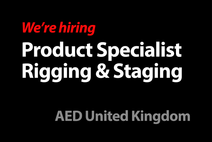 Product Specialist - Rigging & Staging