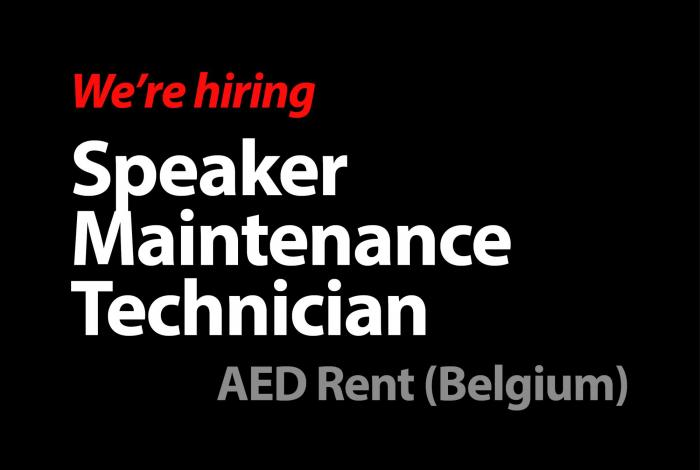 Speaker Maintenance Technician